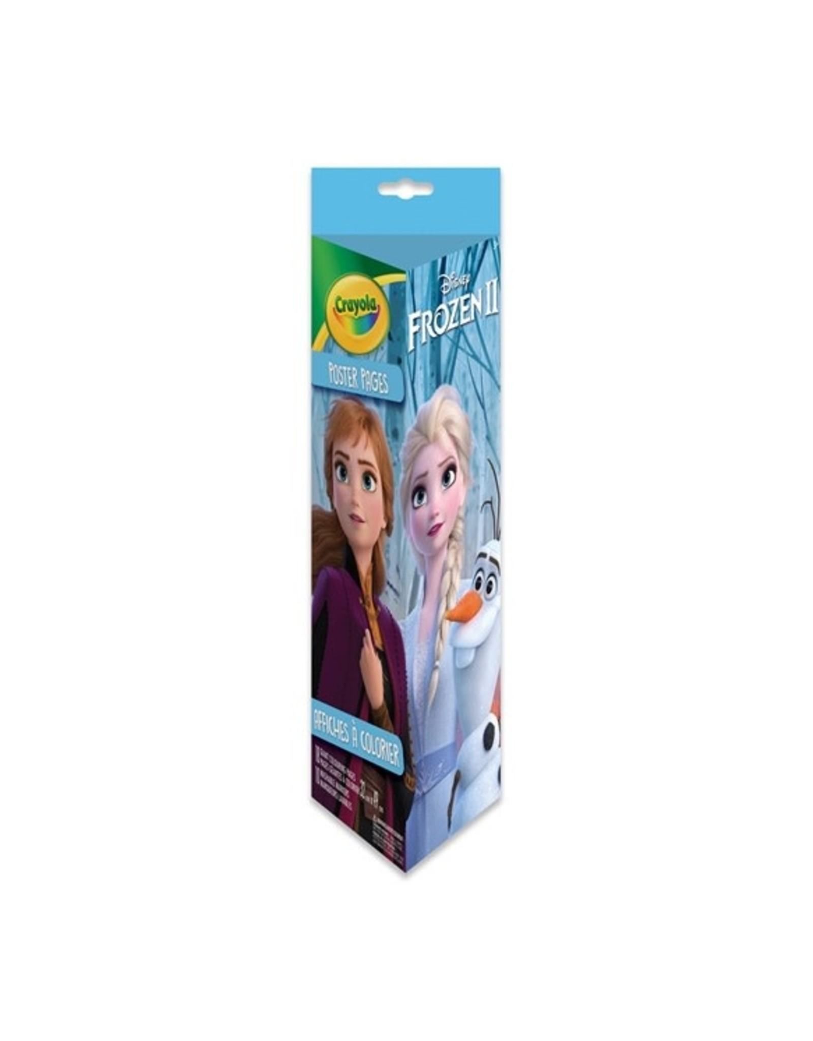 Crayola Colouring Tube - 18 pgs 10 mkr, Frozen 2