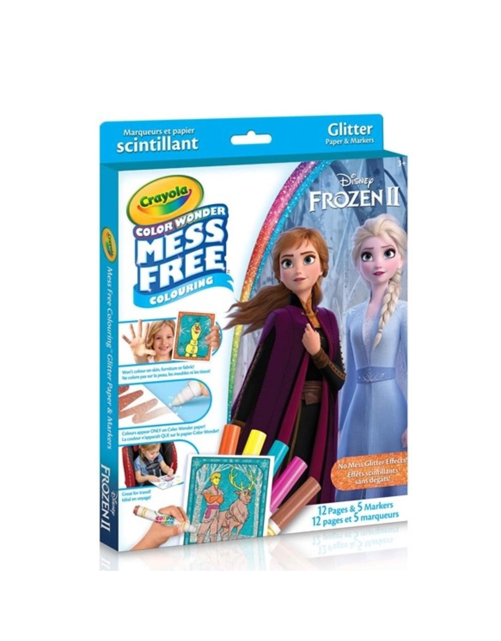 Crayola CW Glitter 12 pgs 5 mini mkr - Frozen 2