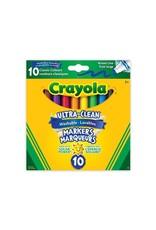 Crayola Ultra-Clean Broadline Markers - classic 10 ct