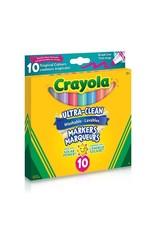 Crayola Ultra-Clean Broadline Markers - tropical 10 ct