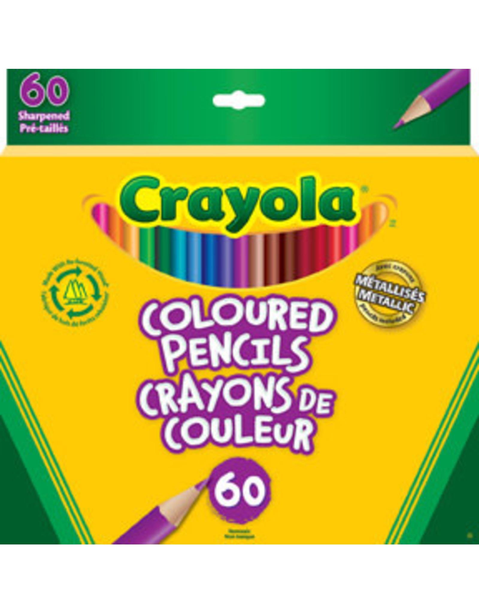 Crayola Coloured Pencils - 60 piece