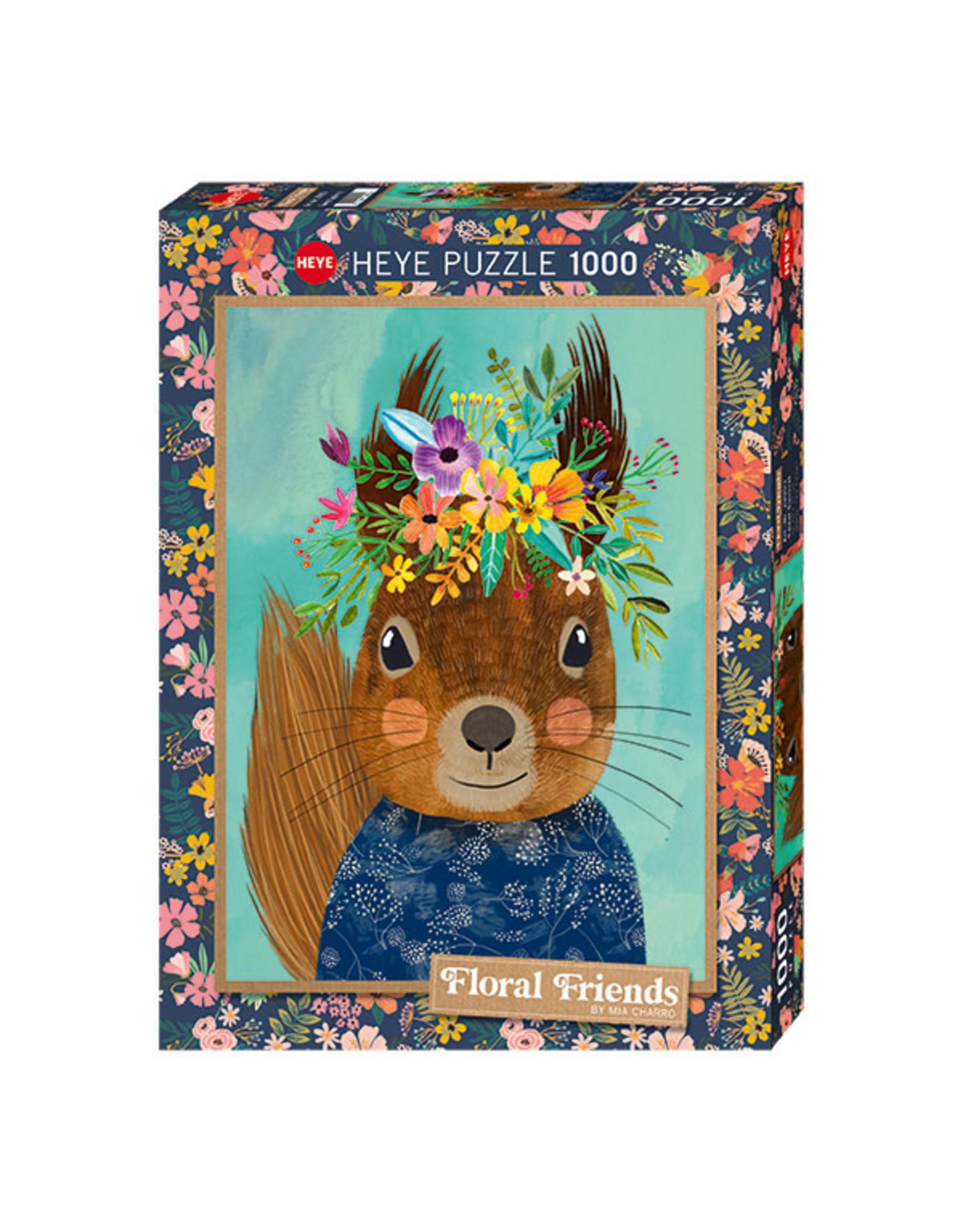 Heye Floral Friends (1000 piece) - Sweet Squirrel