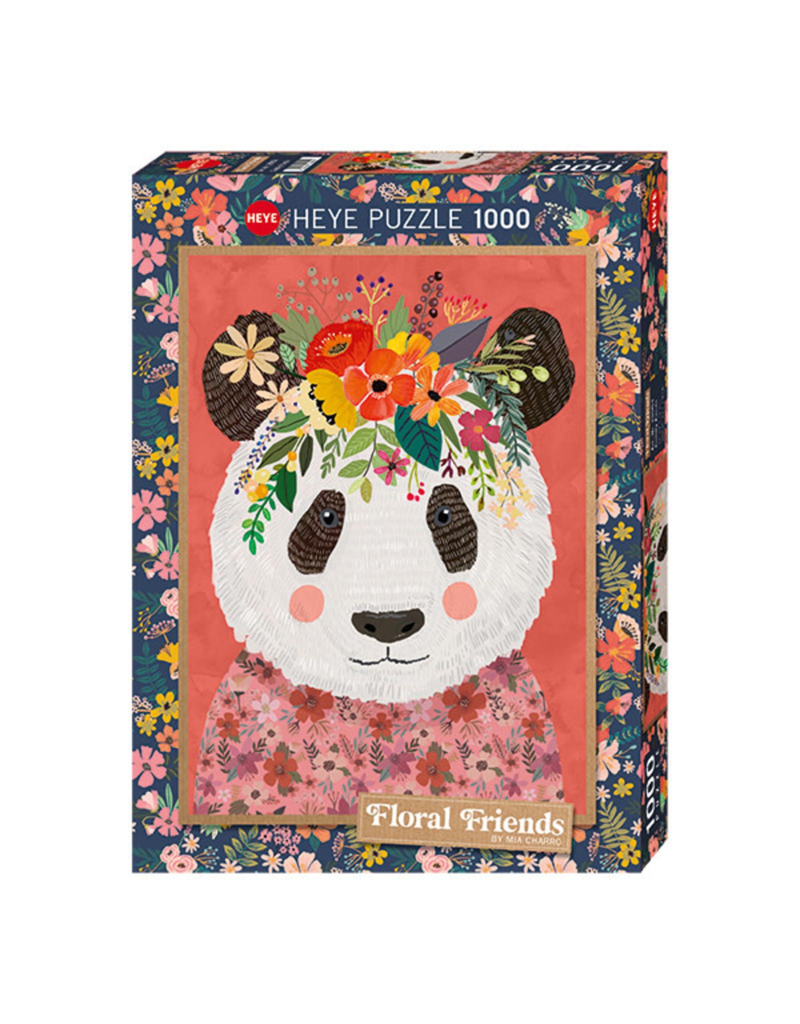 Heye Floral Friends (1000 piece) - Cuddly Panda