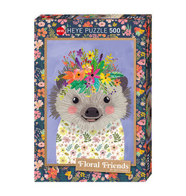Floral Friends 500 piece - Funny Hedgehog