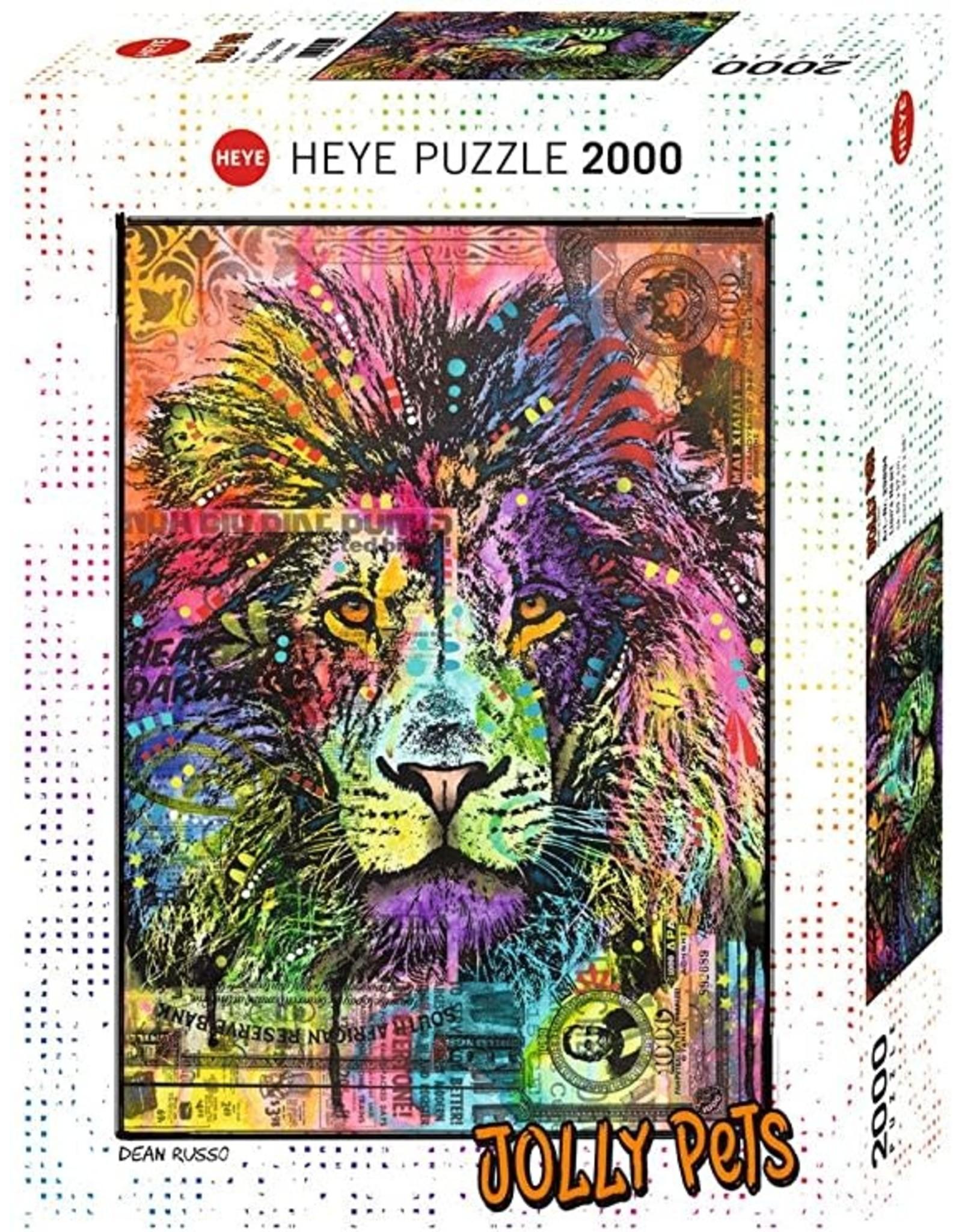Heye Jolly Pets Puzzle (2000 piece) - lion's heart