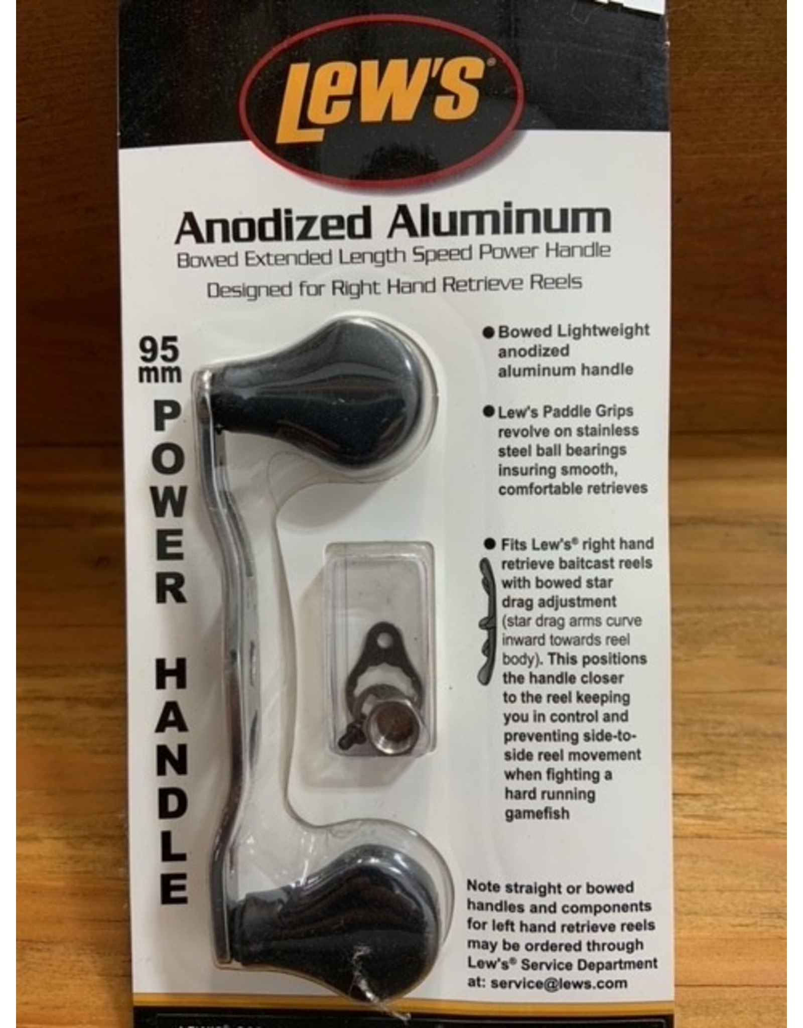 Lew's LEW'S ANODIZED ALUM. BOWED EXTENDED LENGTH POWER HANDLE