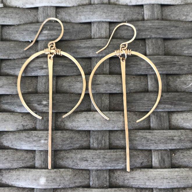 Crescent Bar Earrings