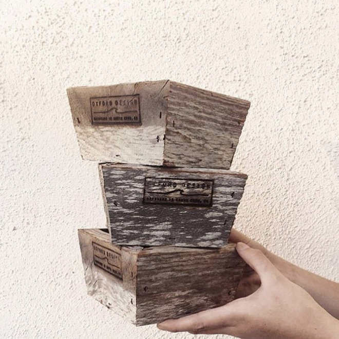 Reclaimed Wood Standing Planter
