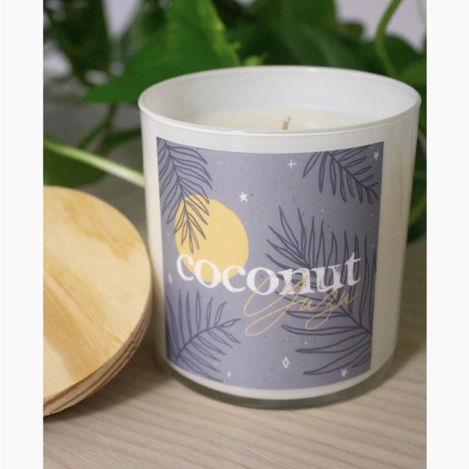"""""""Coconut, Yuzu, & Seafoam"""" 8oz Soy Candle"""