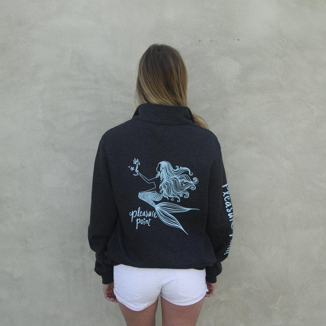 """""""Artisan Mermaid"""" Grey Quarter Zip Fleece Sweatshirt"""