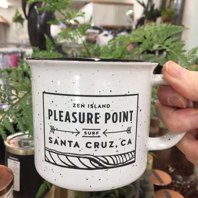 Pleasure Point Wave White Camp Mug