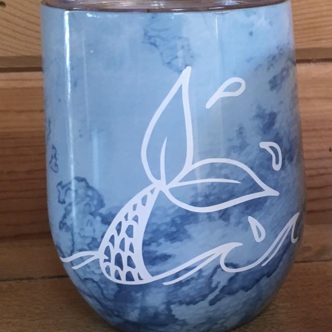 Artisan Mermaid Tail White Decal