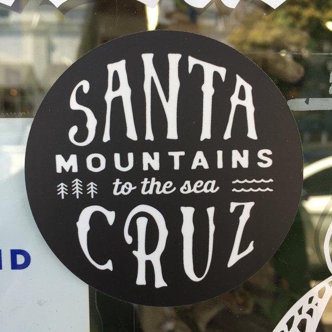 """Santa Cruz Mountains to the Sea 3"""" Sticker"""