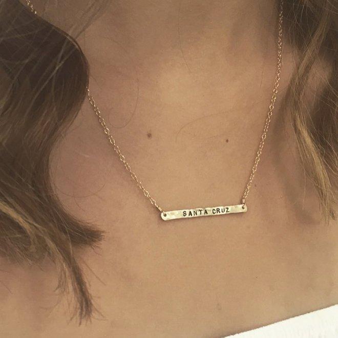Bar Necklace 14k gold-filled