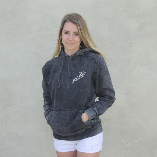 """""""Isle de Zen"""" Washed Black Pullover Sweatshirt"""