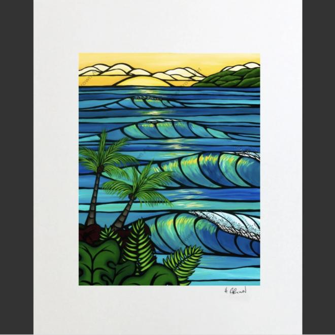"""""""Sunset Swell"""" 16x20 Mat, 11x14 Print"""