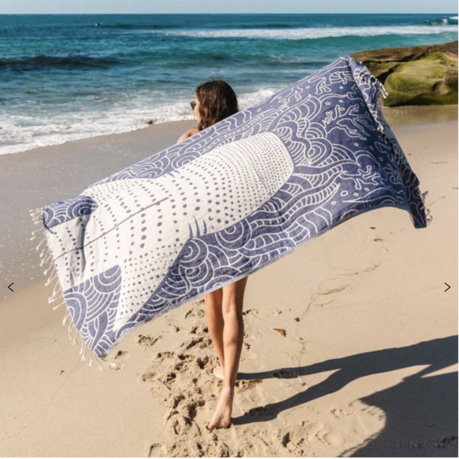 "Whale Shark ""Sand Resistant"" Towel"