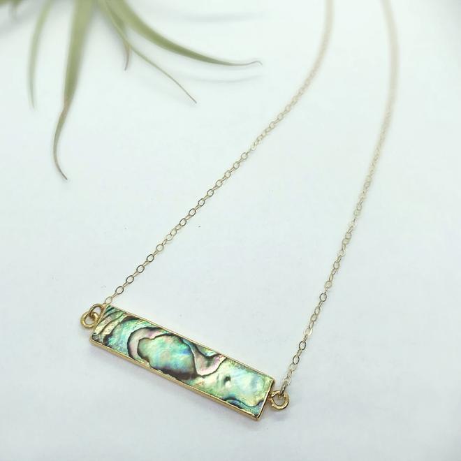 Abalone Bar Necklace