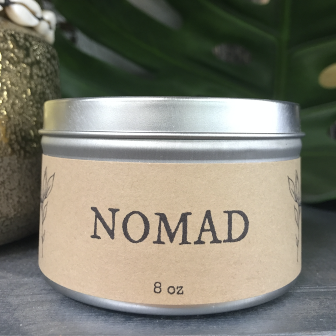 """Orange Woods"" Nomad 8oz Soy Candle"
