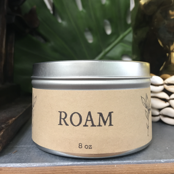 """Patchouli & Ginger"" Roam 8oz Soy Candle"