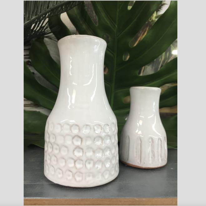 Greek White Medium Vase