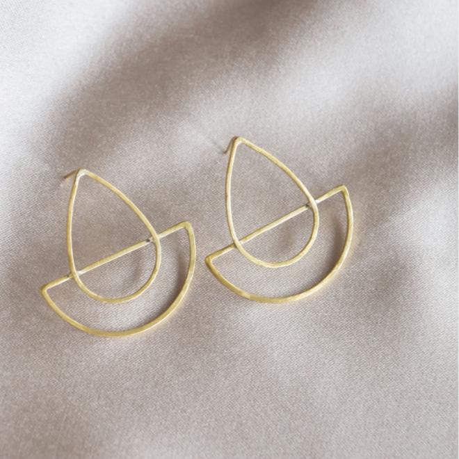 Cattleya Brass Earrings