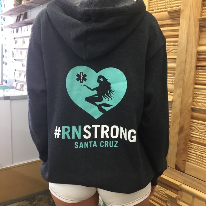 """#RN Strong"" Dark Gray Zip Hoodie Sweatshirt"