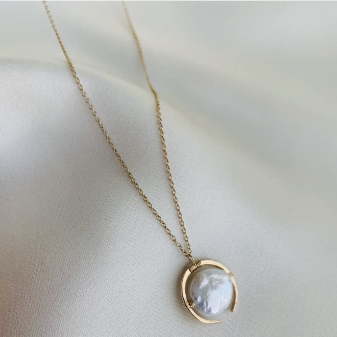 Framed Pearl Necklace