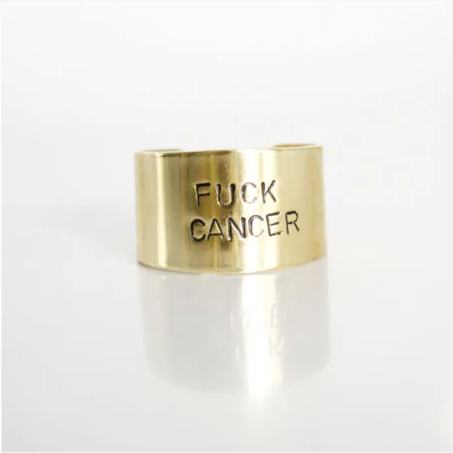 """""""Fuck Cancer"""" Brass Ring"""