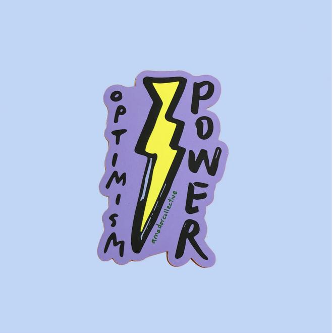 """Optimism Power"" Laptop Sticker"