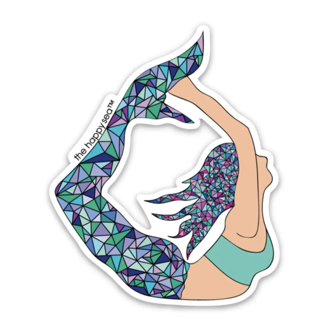 """Yoga Mermaid"" Sticker"