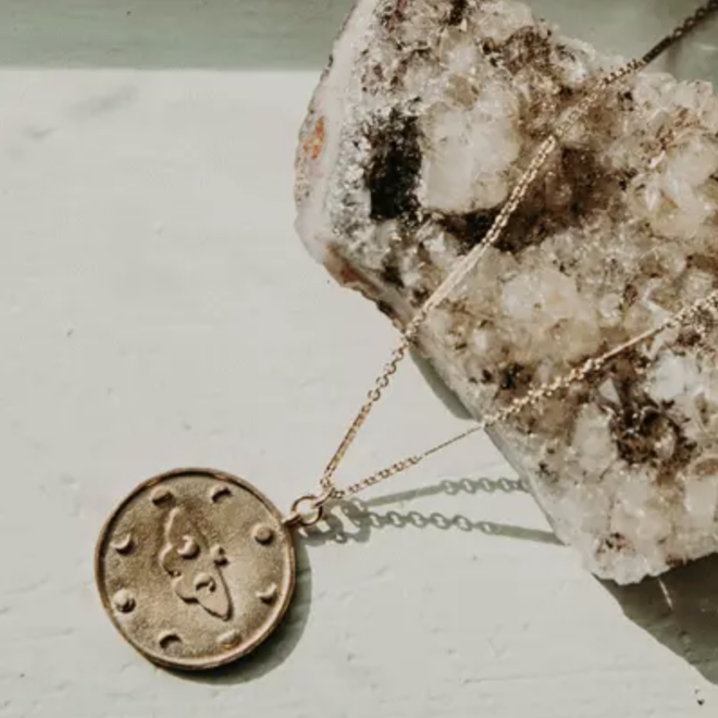 """Mineral and Matter GF/GP Moth Moon 24"""" Necklace"""