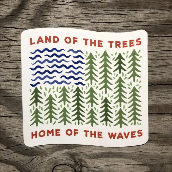 """""""Home of the Waves"""" Sticker"""