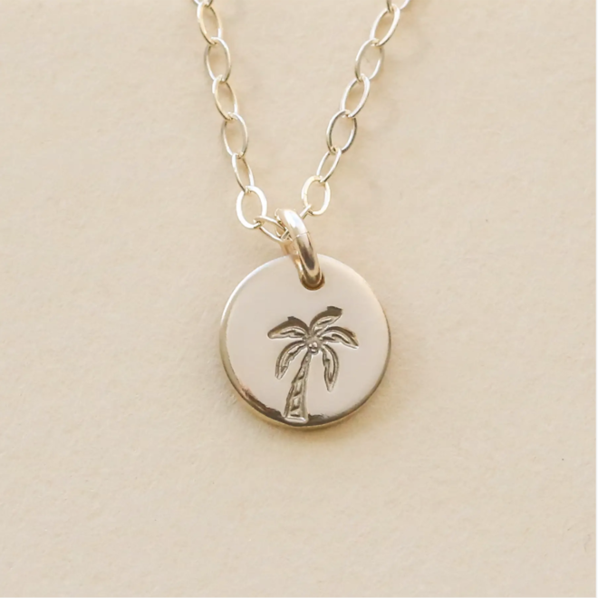 """Palm Tree"" Coin Necklace"