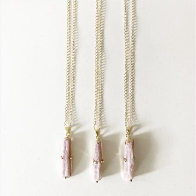 "Pink Tourmaline 22"" Necklace"