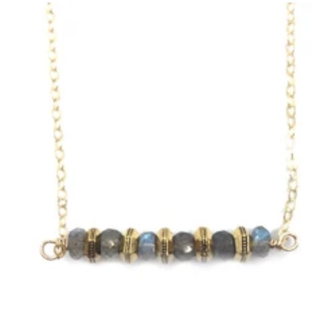 Labradorite Mini Hexagons Necklace