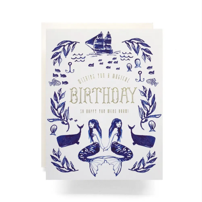 """Mermaid Birthday"" Greeting Card"