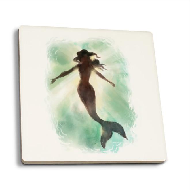 """""""Mermaid Underwater"""" Coaster"""
