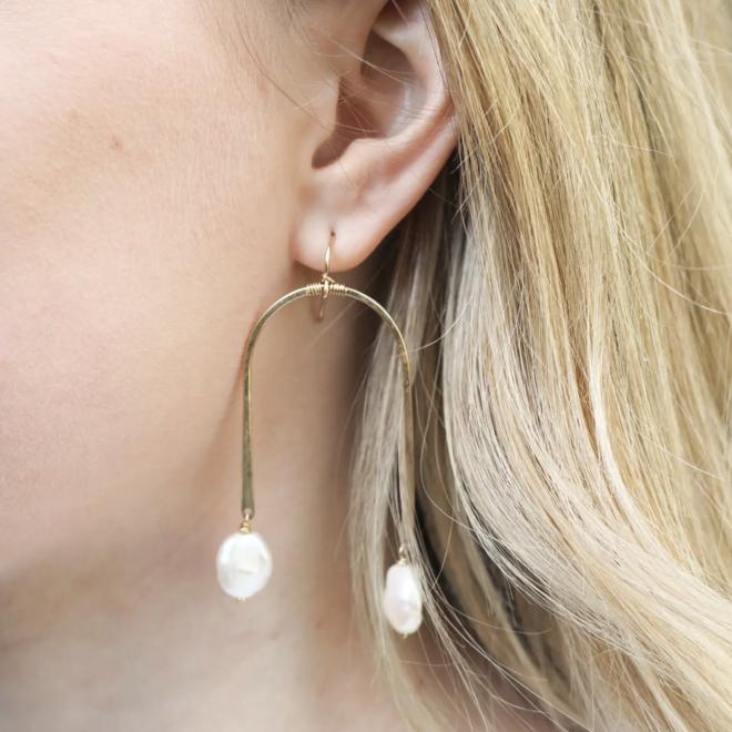Pearl Arch Earrings