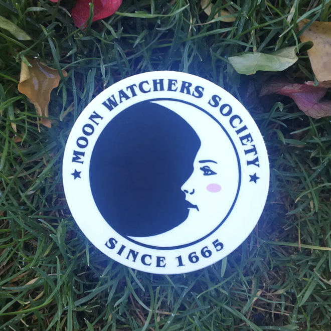 Moon Watchers Sticker