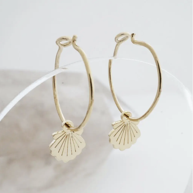 Magic Shell Hoop Earrings