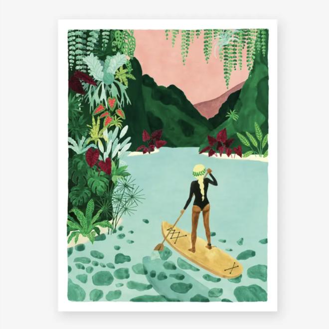 """Dream Tropical Paddle"" Art Print"