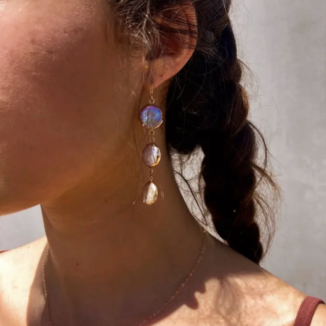 Dream Drop Earrings, Baroque Pearl