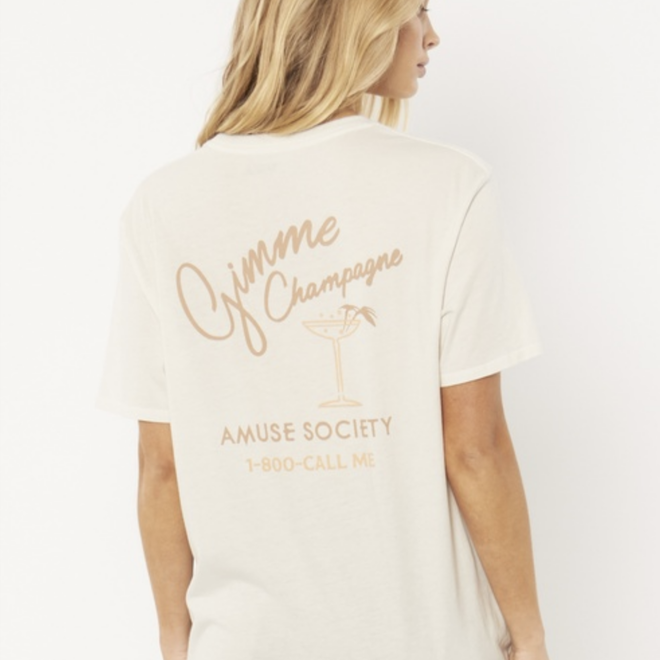 White Gimme Champagne Tee