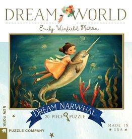 New York Puzzle Company New York Puzzle Dream World Dream Narwhal 100 pc Mini Puzzle