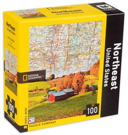 New York Puzzle Company New York Puzzle Northeast US Map 100 Pc Mini Puzzle