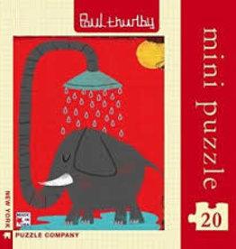New York Puzzle Company New York Puzzle Paul Thurlby 20 Pc Mini Puzzle-Elephant