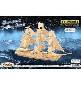 Cota Global Cota Wooden 3D Puzzle-European Sailing Boat