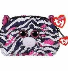 Ty Ty Fashion Sequined Accessory Bag-Zoey Zebra
