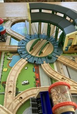 Fisher Price NEW Fisher Price Thomas & Friends Island of Sodor Wooden Train Play Table w/Accessories, Track, & Engines